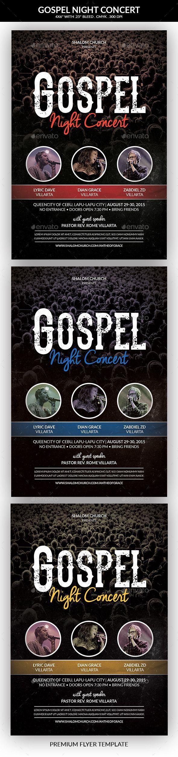 Gospel Night Concert Church Flyer | Churches, Flyer template and ...