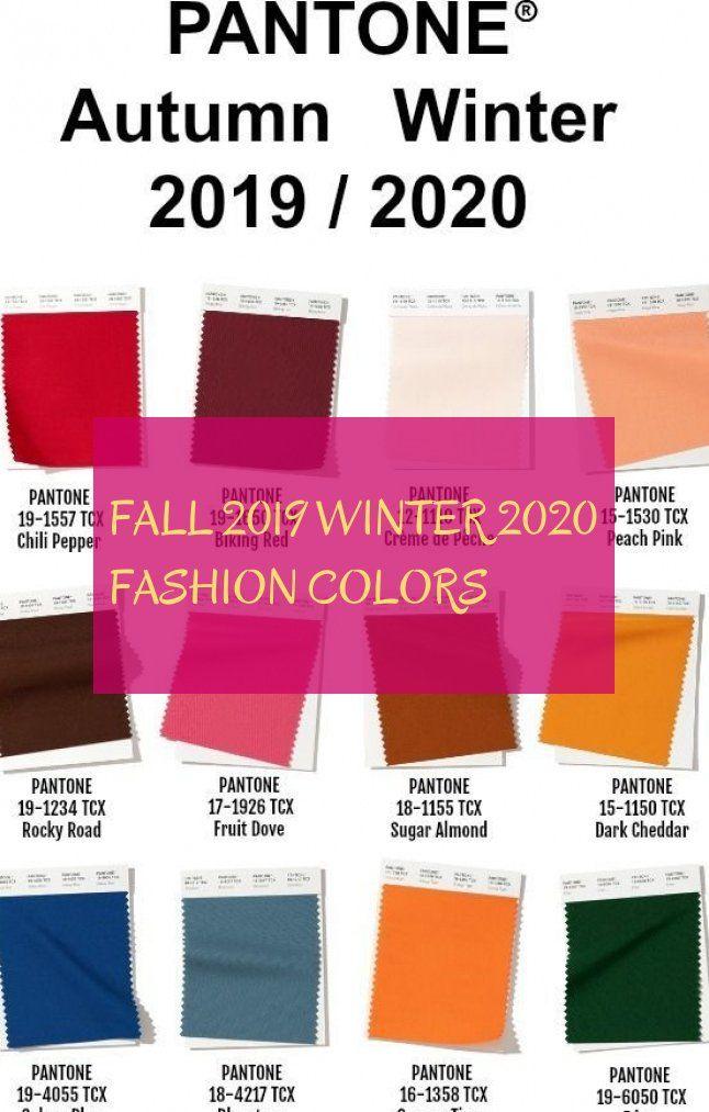 modefarben herbst winter 2019