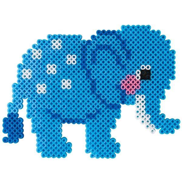Elephant Hama Mini perler could use as a knitting chart