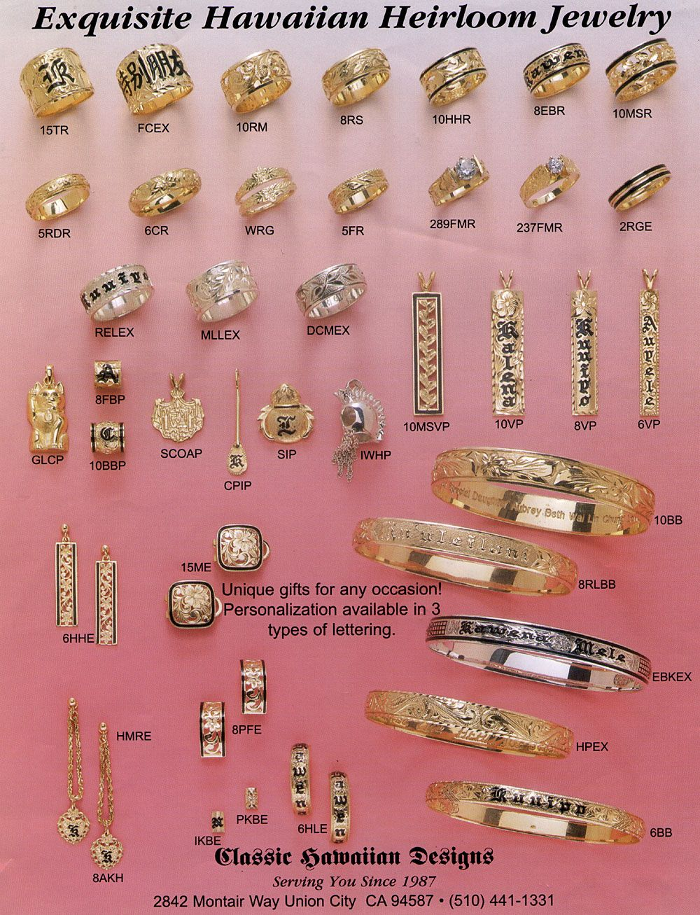 One Sheet Jpg 1000 1307 Jewelry Hawaiian Heirloom Jewelry Custom Jewelry