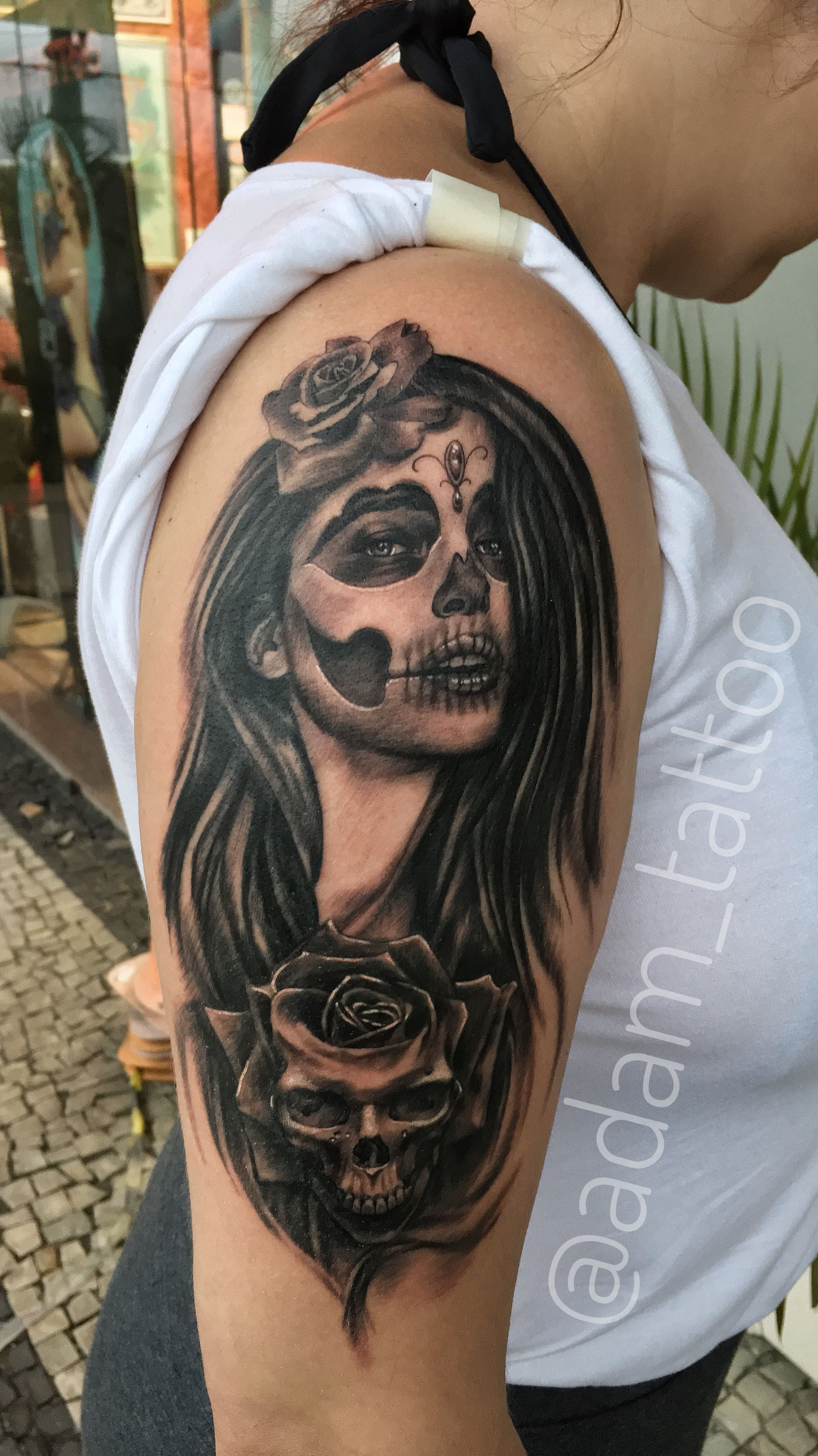Catrina And Rose Tattoo: Pin On Realism Black And Grey/ Colour