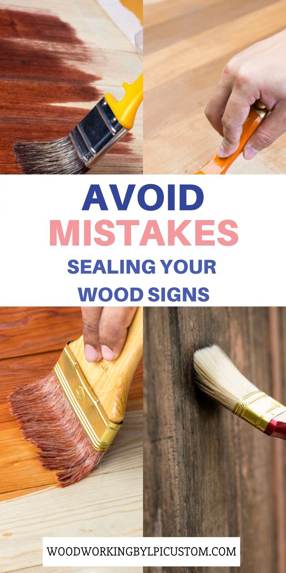 Avoid Mistakes Sealing Your Wood Signs Distressed Wood Diy Wood Signs Painted Wood Signs