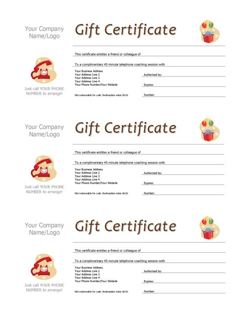 Complimentary Session Vouchers TEMPLATE - coaching contract template