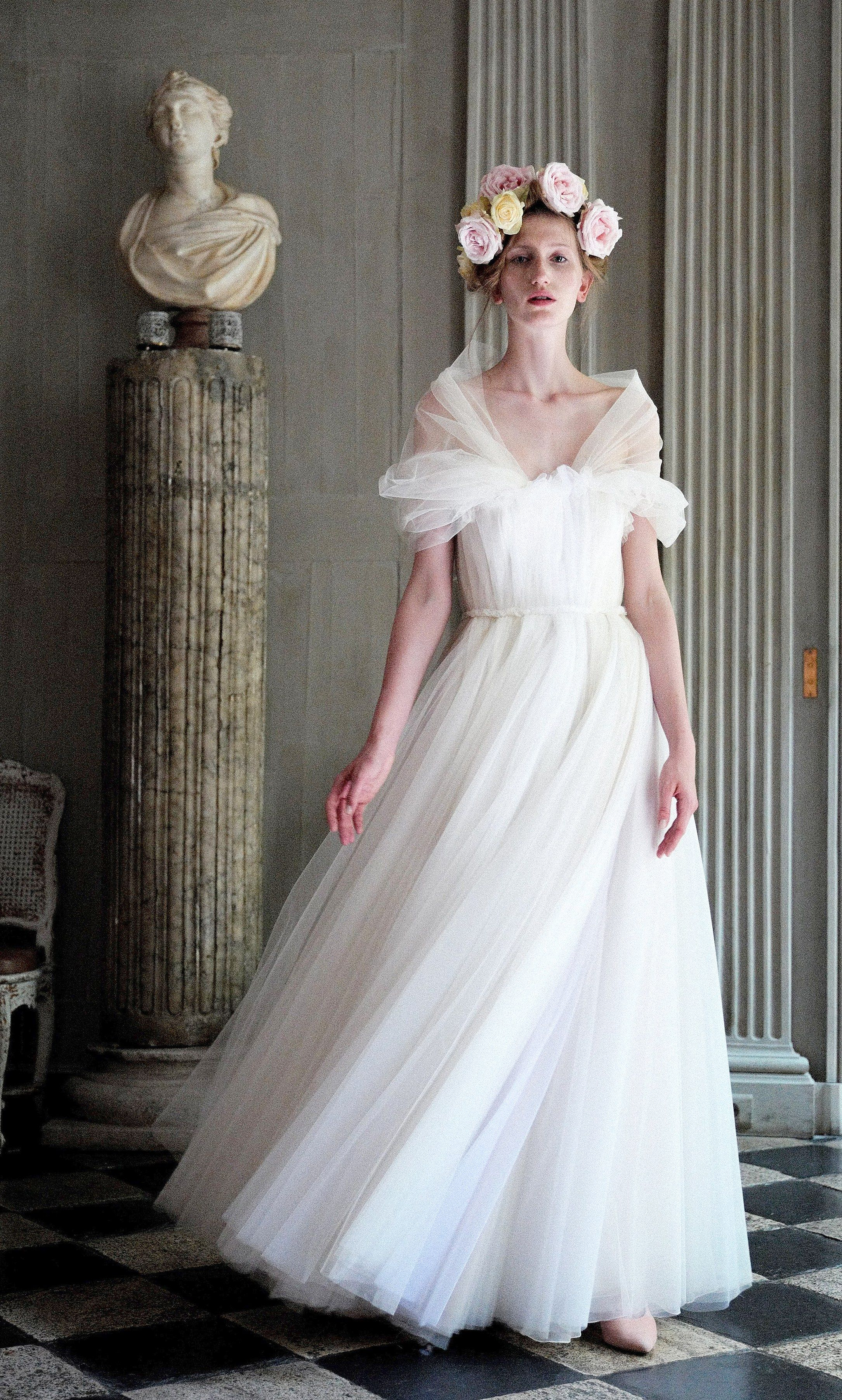 A Wedding Dress Designed By Luisa Beccaria From The Paris Fashion
