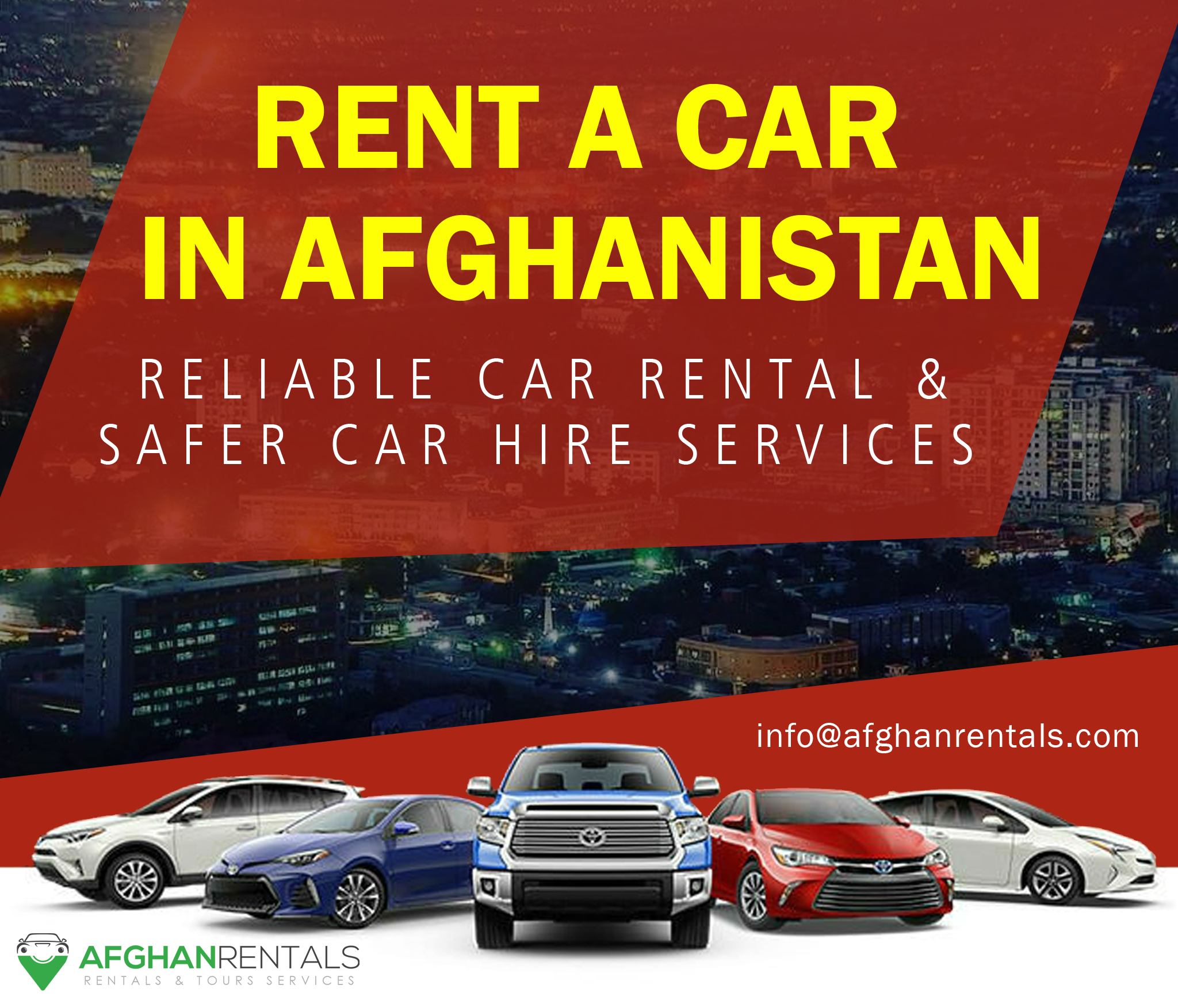Rental And Pricing Information: Car Rental In Afghanistan! Reliable Car Rentals And Car