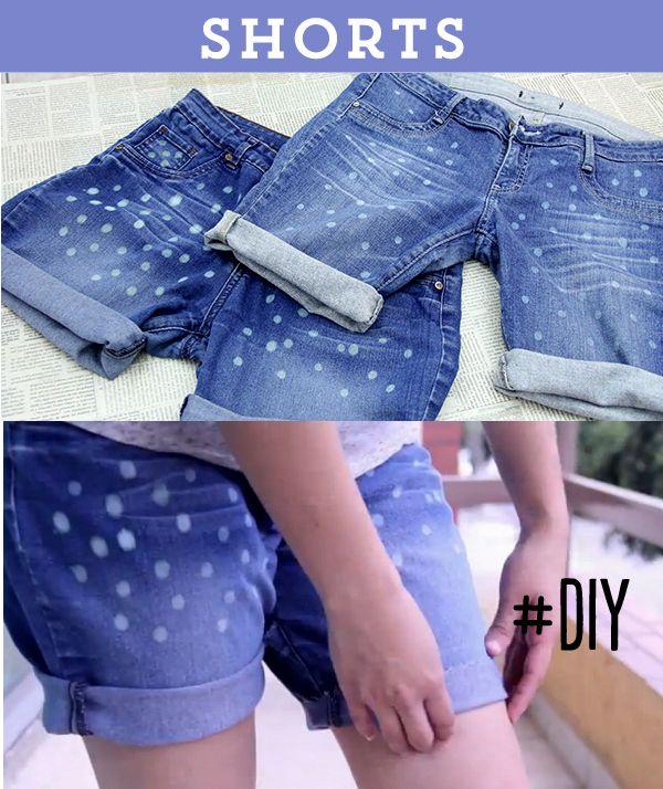 401bc69232 Recicla tus jeans viejos y hazlos shorts decorados! Te enseño cómo aquí en  1