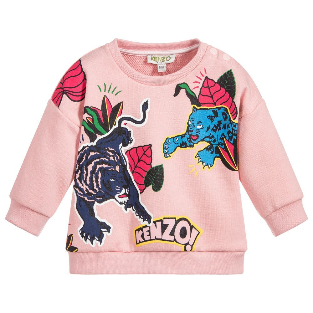 23f95633965d Girls Cotton Sweatshirt for Girl by Kenzo Kids. Discover more beautiful  designer Tops for kids online