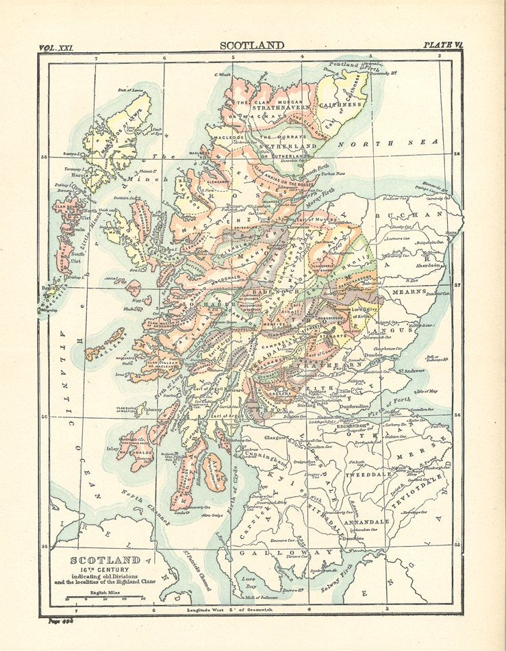 The Clans of Scotland in the 16th century, a printable digital