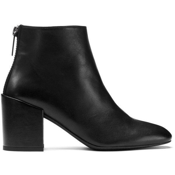 Stuart Weitzman BACARI ($565) ❤ liked on Polyvore featuring shoes, boots, ankle booties, black nappa leather, booties, stuart weitzman boots, black booties, stuart weitzman, black boots and black ankle booties