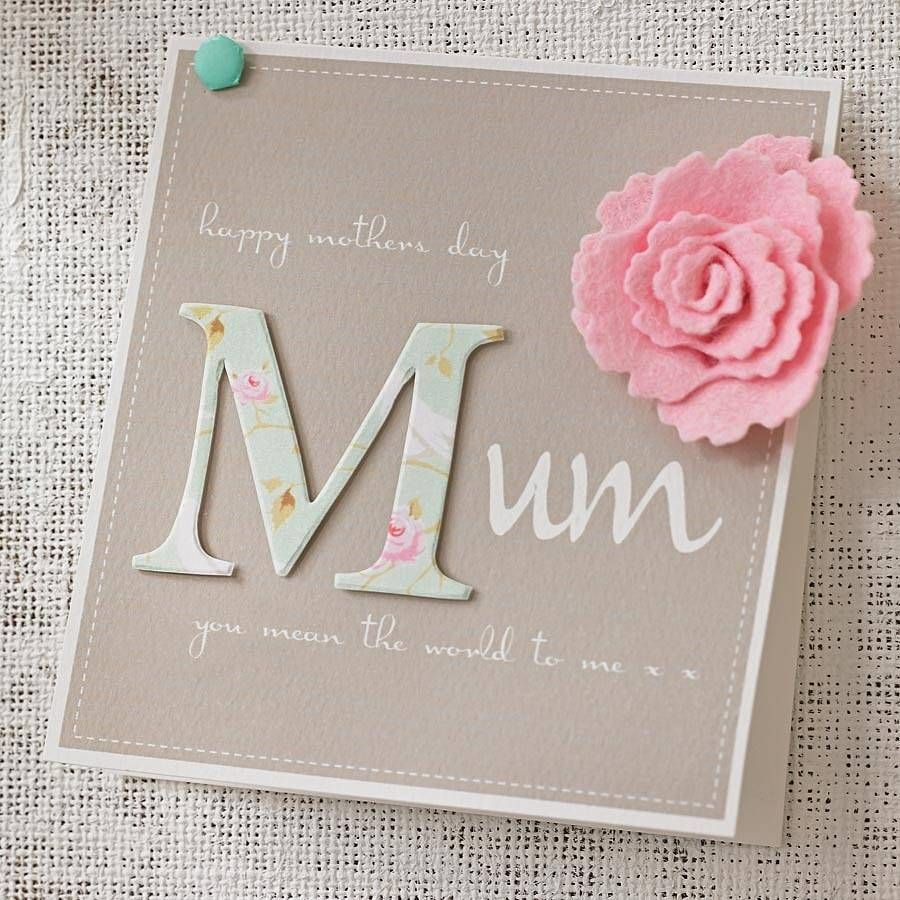 Personalised Felt Flower Mother 39 S Day Card By Thoughts Of