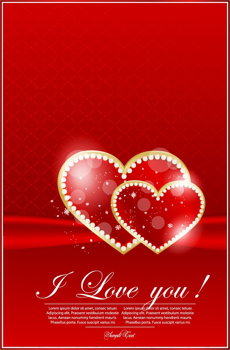 Free Vector Valentine39s Day Greeting Card 02 Vector Graphic