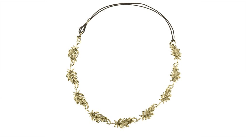 Autumn - a #golden versatile hinged #halo with glorious leafy detail #bridesmaids #weddings #bridalfashion #boutiquedevoile #wholesale #NewYork #motherofthebride