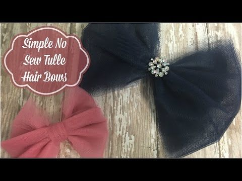 Tulle Hair Bow | How to make No Sew Tulle Bows in 7 Simple Steps - The Hair Bow Company