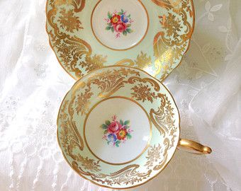 Reserved for Ting/Antique English Paragon By Appointment to Her Majesty the Queen Fine Bone China Tea Cup and Saucer