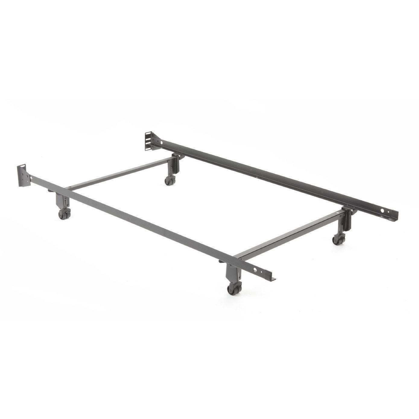 Twin Size Metal Bed Frame With Casters And Headboard Brackets Twin Size Metal Bed Frame