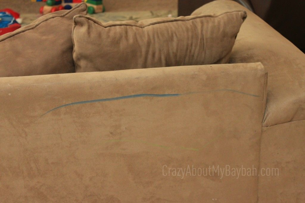 How to clean crayon off of a microfiber couch microfiber