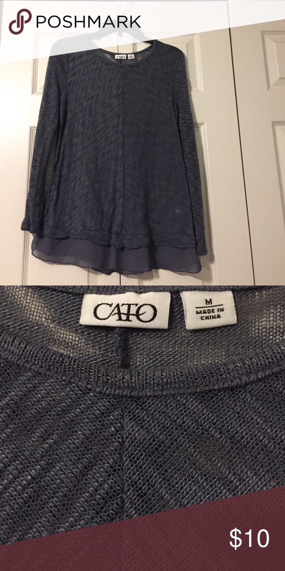 Great with leggings or jeans! Dark grey tunic. Cato Tops Tunics