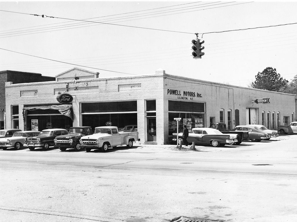 Ford Dealerships In Nc >> 1957 Powell Motors Inc Ford Dealership Lillington North
