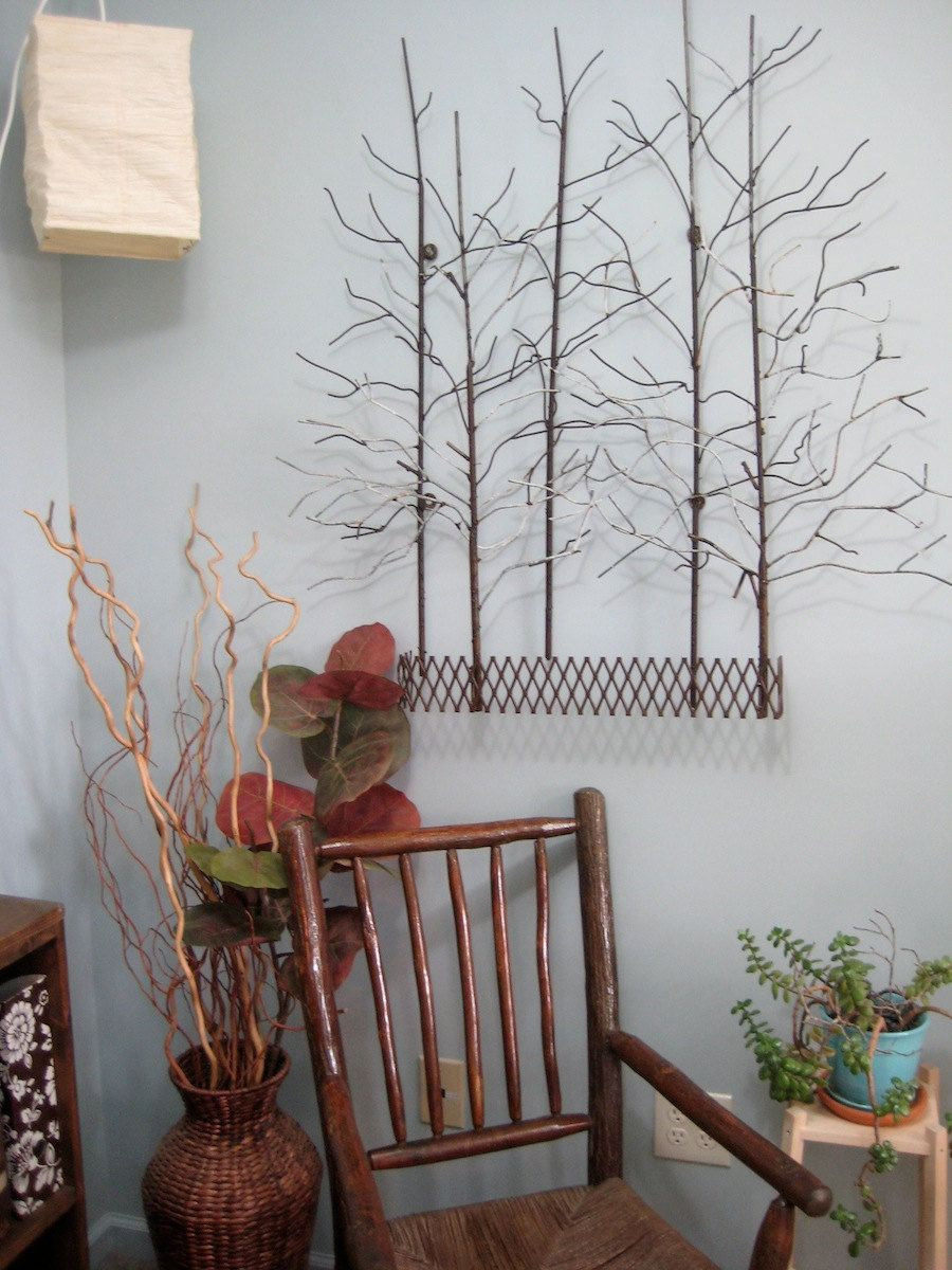 The forest recycled steel wall art for autumn fall decoration