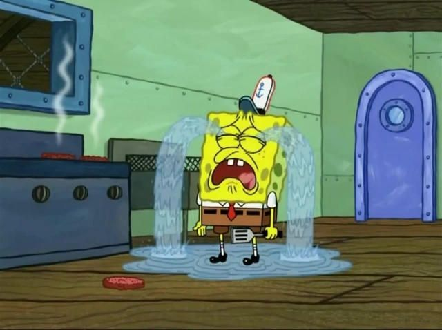 Spongebob crying by Callewis2 on DeviantArt