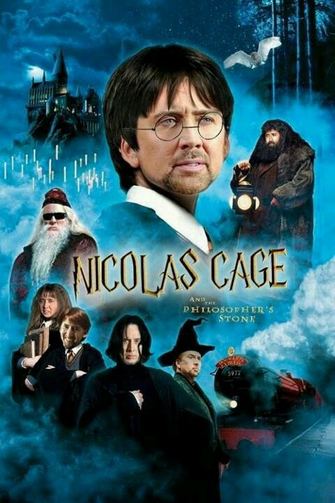 Nicholas Cage S Face On This Philosopher S Stone Harry Potter Harry Potter Movies Harry Potter Full Movie