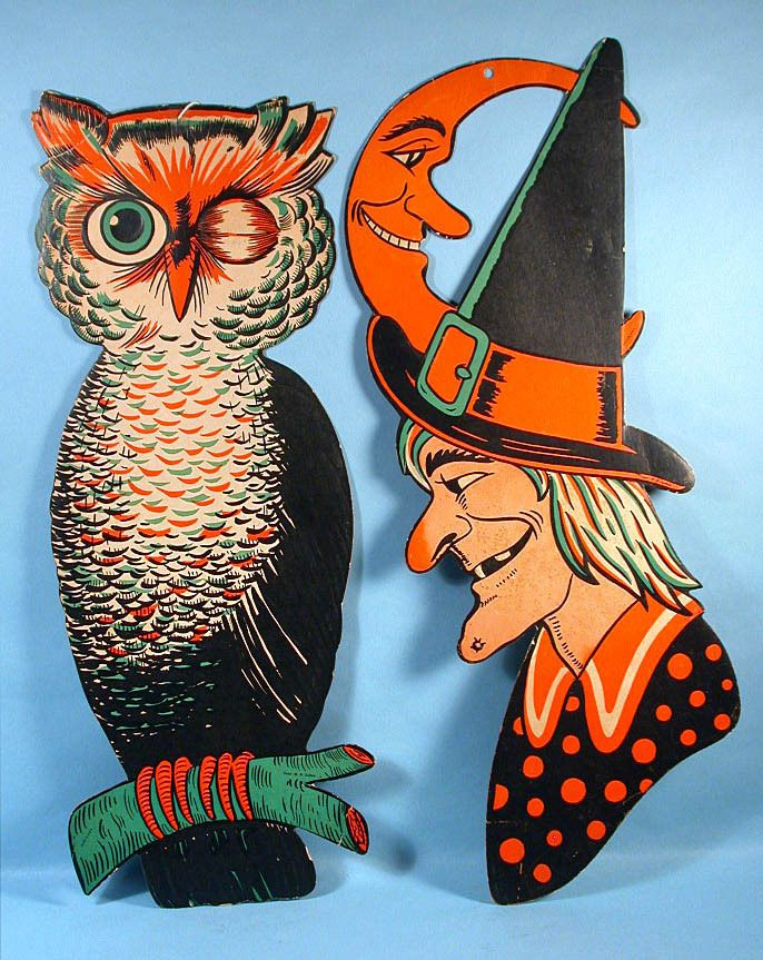 Details About Vintage Beistle Die Cut Witch Face Cardboard
