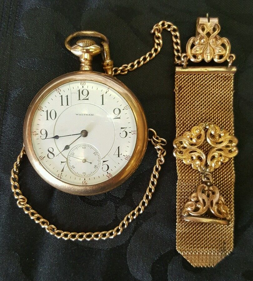 59566224def Antique Waltham pocket watch  Waltham