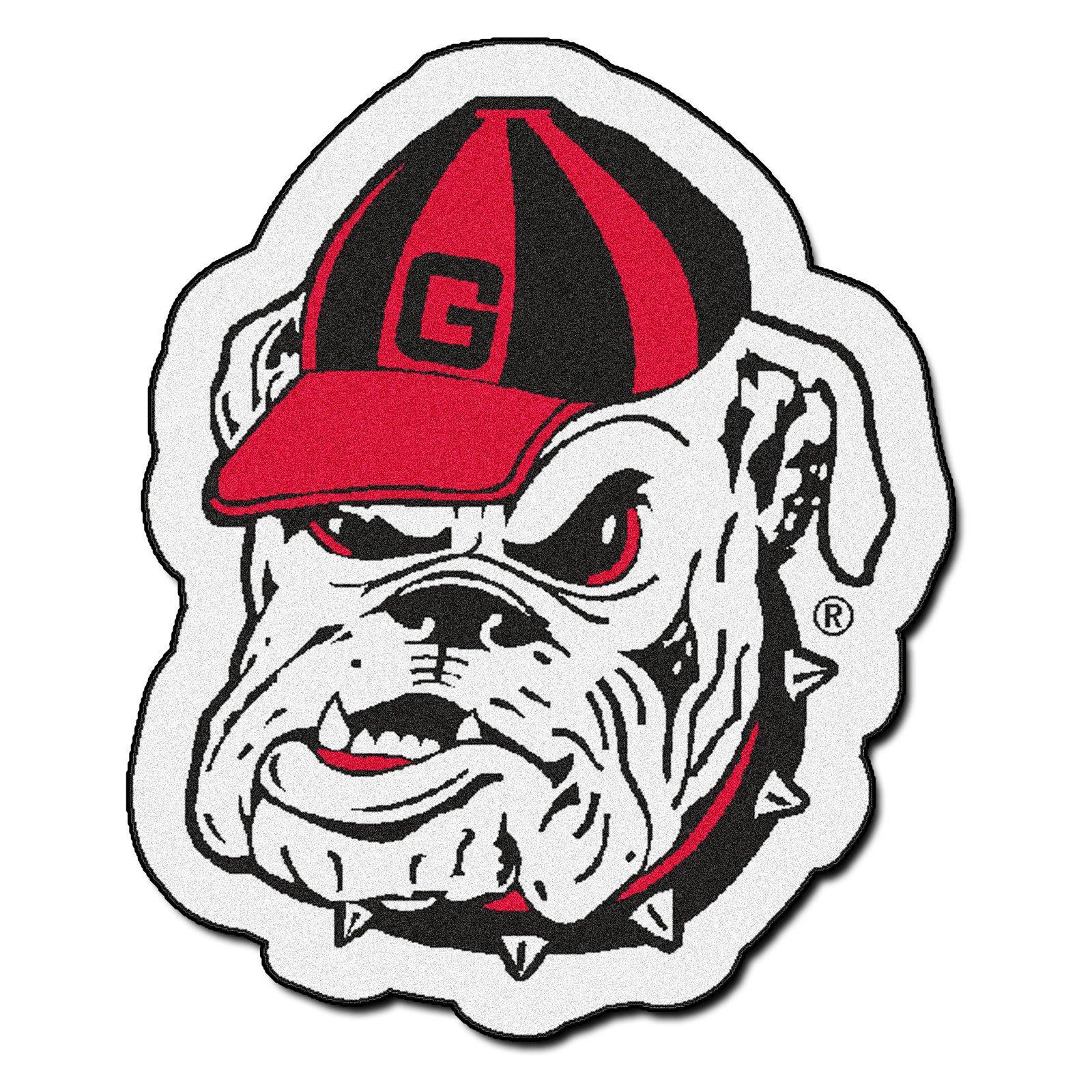 FANMATS NCAA University of Georgia Bulldogs Nylon Face Carpet Car Mat