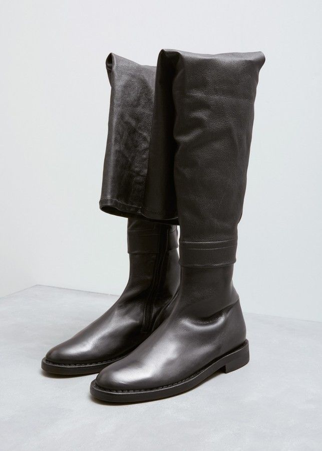 8481f4ee8d6 Ann Demeulemeester Over the Knee Flat Boot