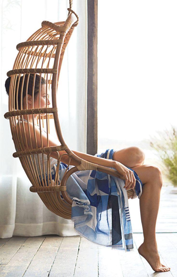 perfect indoor swing Hanging rattan chair