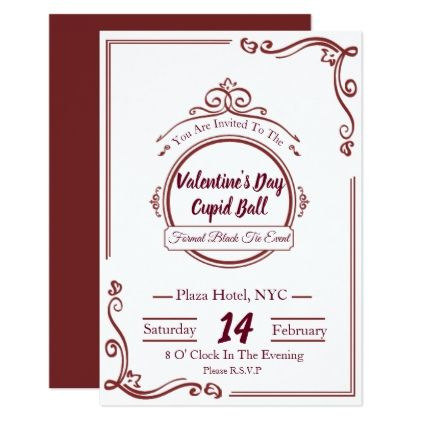Luxury Valentines Day Invitations  Valentines Day Gifts Love