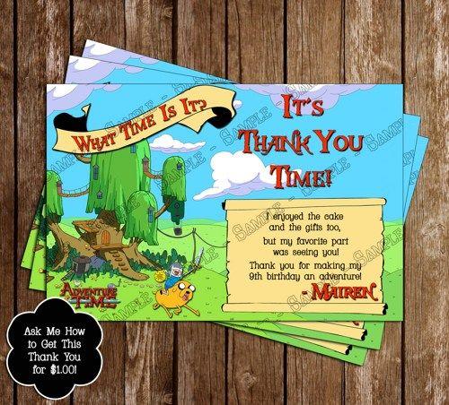 Adventure Time Birthday Invitation