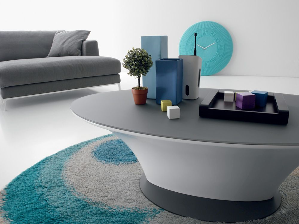 Compar Modern Boat Coffee Table In Matte White Or High Gloss Grey