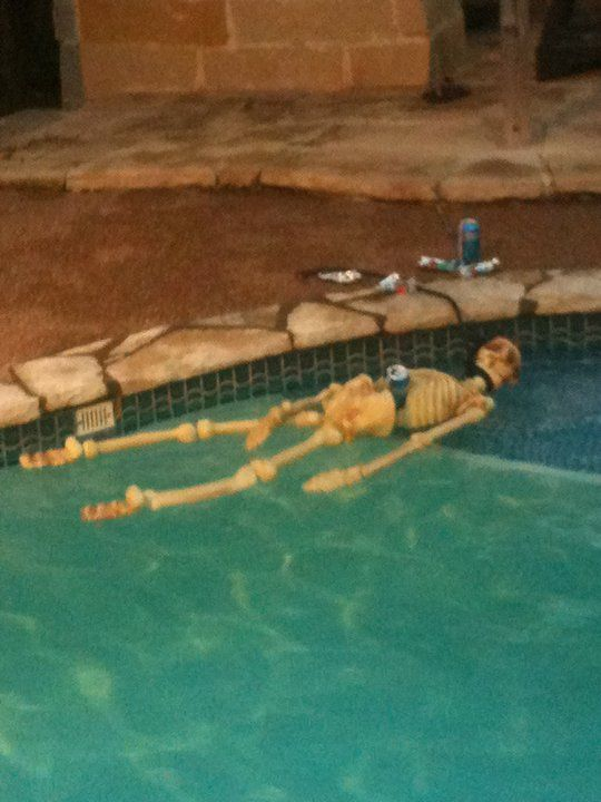 Fast and easy halloween pool decoration made by brooke i - Halloween swimming pool decorations ...
