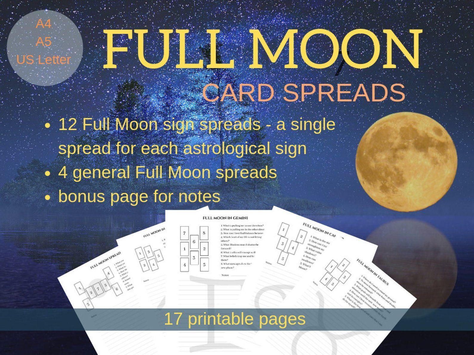 Full Moon Tarot Spreads Card Spreads