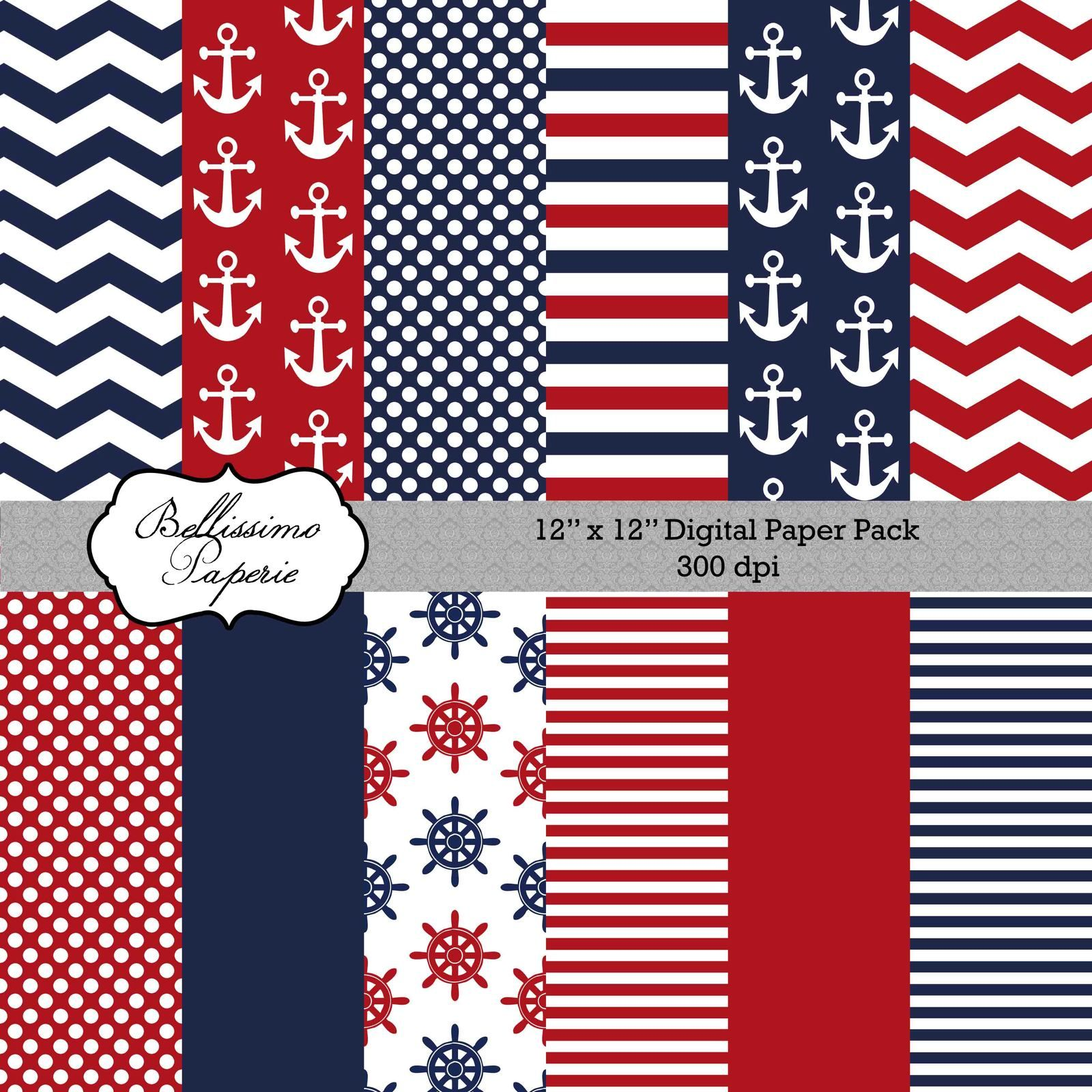Page 2 for queryfree free printable nautical backgrounds - Scrapbook background free printables ...