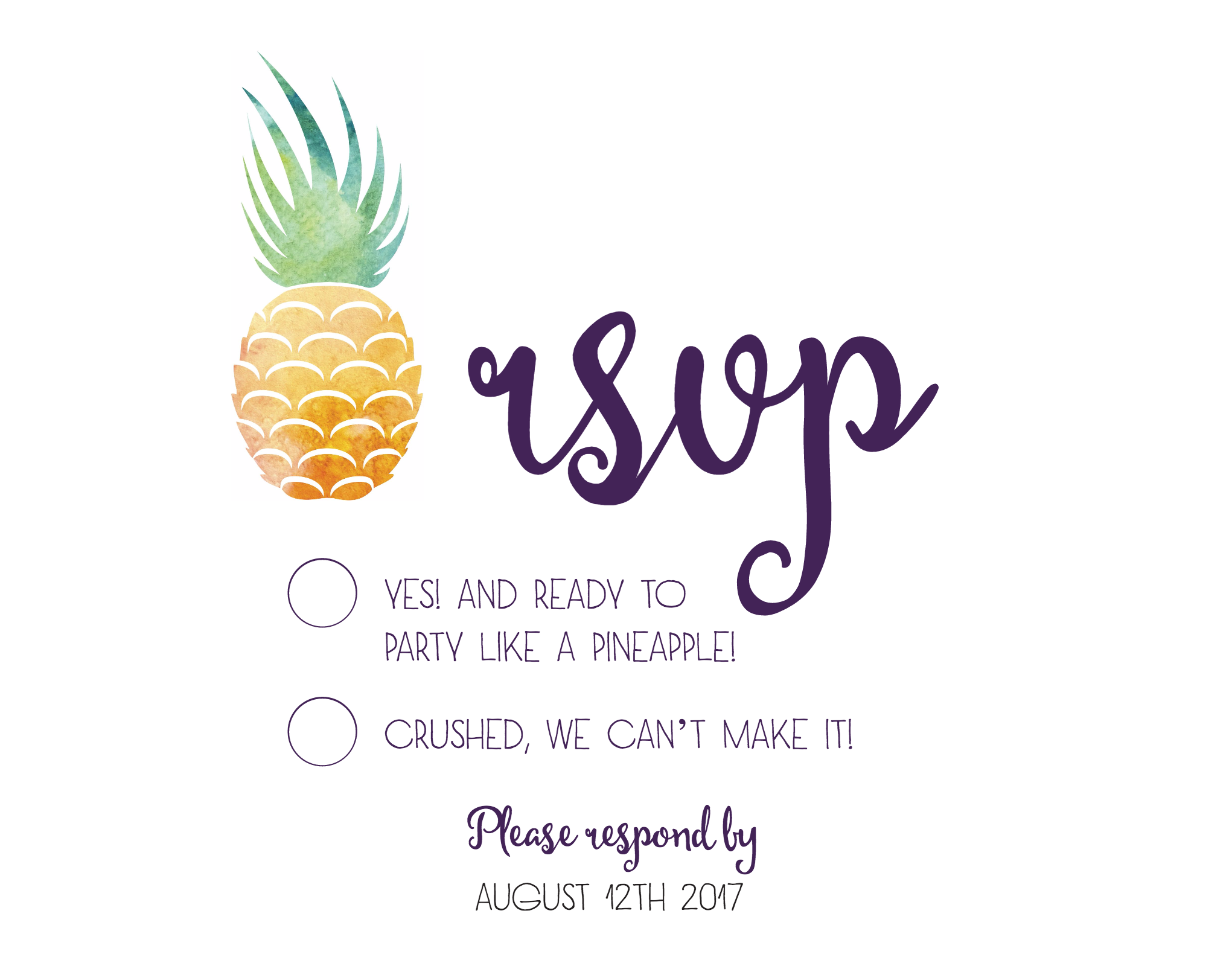 How Cute Is This Customizable Pineapple Rsvp Card Get Them Free