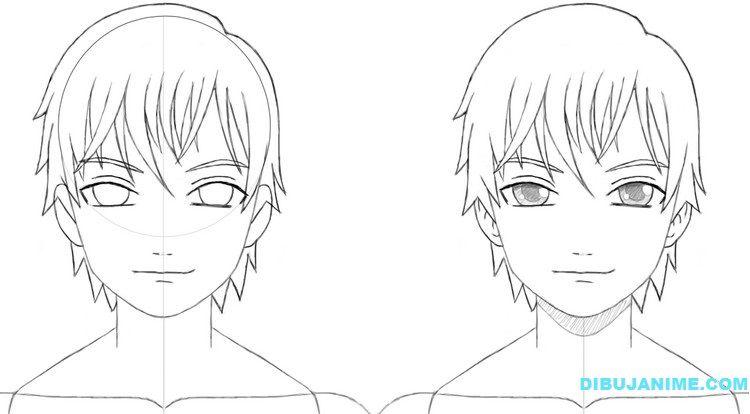 Como Dibujar Y Pintar Facil El Rostro De Una Mujer De: Como Dibujar A Un Hombre Anime (rostro Y Cuerpo) Pasó A