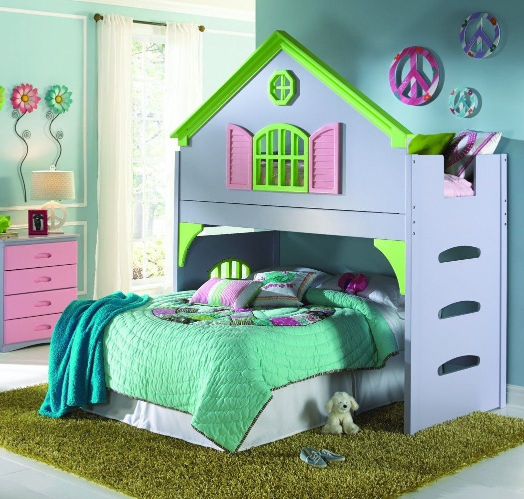 Loft bed ideas girls  Create your daughterus dream room with our doll house loft bed for