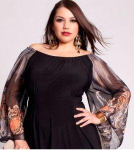 comprar hermoso estilo precios grandiosos Blusa de gasa para gorditas 3 … | ideas lindas | Vestidos ...