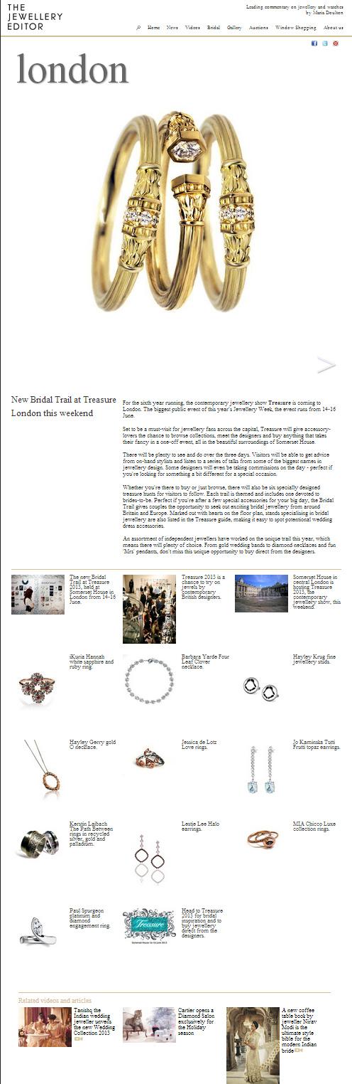 The Jewellery Editor Bridal Trail