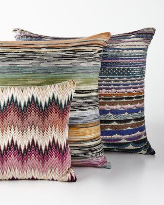 "6XVA Missoni Home Phrae Pillow 16""Sq Singapore Pillow 24""Sq"