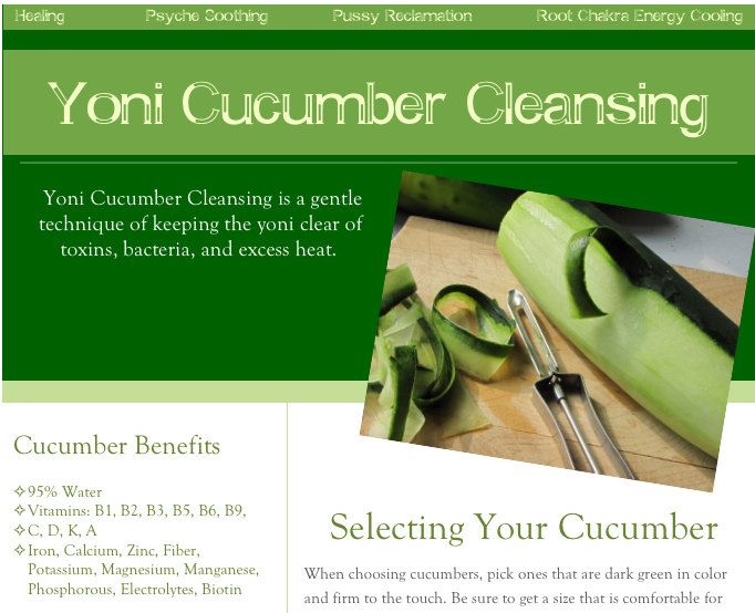 Yoni Cucumber Cleansing Instructions by NouriEnergi on
