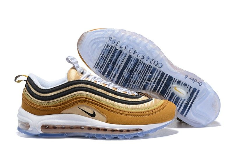super popular 728bd 947b7 Nike Air Max 97 Mens Sports Life Classic Shoes 921826-201 Ale BrownBlack-Elemental  Gold
