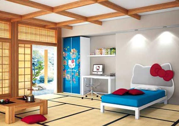 from japan comes a room full of traditional atmosphere hello kitty oriental picture collection of hello kitty themes bedrooms - Japanese Design Bedroom