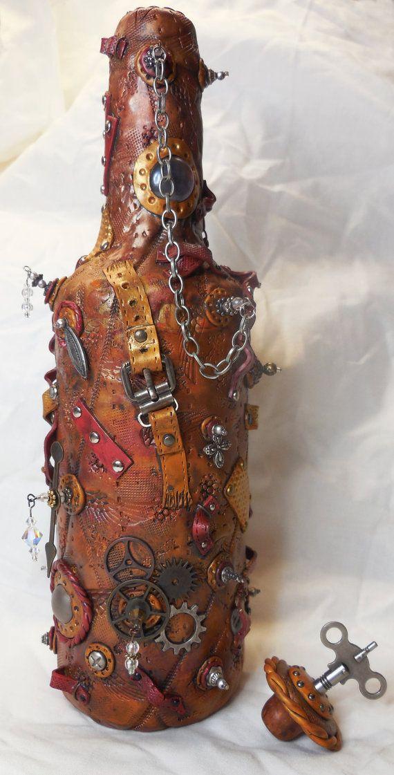 Compro Botellas De Vino Antiguas Steampunk Botella Con El Tapon Extraible Arte De Botella