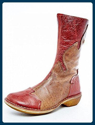 Eject Damen Stiefel Schuh Stiefel Rot Braun  Leder usedlook   Braun 36 Größe ... 66e306