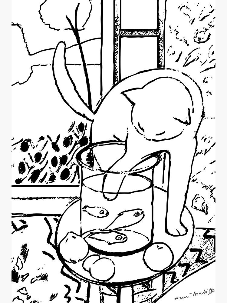 Henri Matisse Le Chat Aux Poissons Rouges 1914 The Cat With Red Fishes Artwork Men Women Youth Photographic Print By Art O Rama Shop In 2021 Famous Art Coloring Matisse Art Art