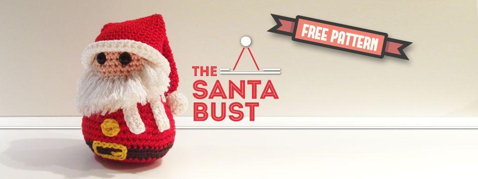 Free pattern - The Santa Bust | Amigurumi | Pinterest | Árbol ...