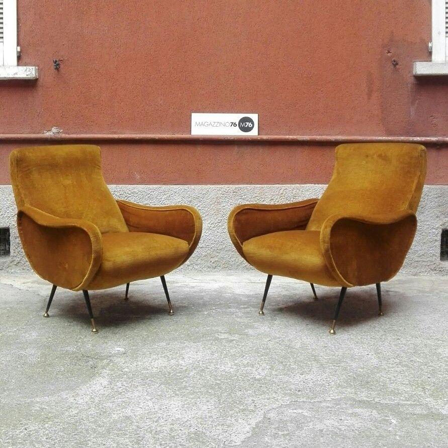 Poltrone Stile Anni 50.Coppia Di Poltrone Anni 50 Stile Lady Chair Di Zanuso